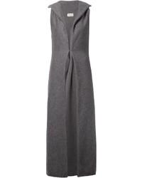 Abrigo sin mangas en gris oscuro