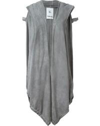 Abrigo sin mangas gris