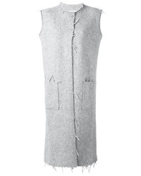 Abrigo sin mangas gris de Maison Margiela