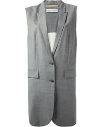 Abrigo sin mangas gris de Veronique Branquinho