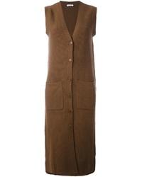Abrigo sin mangas marrón