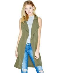 Abrigo sin mangas verde oliva