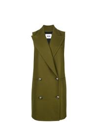 Abrigo sin mangas verde oliva de MSGM