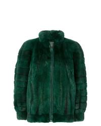 Abrigo Verde Oscuro de Christian Dior Vintage