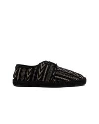 Alpargatas bordadas negras de Saint Laurent
