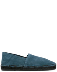 Alpargatas de ante en verde azulado de Tom Ford