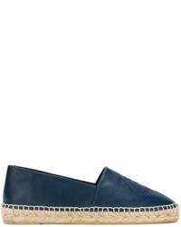 Alpargatas de cuero azul marino de Kenzo