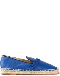 Alpargatas de cuero azules
