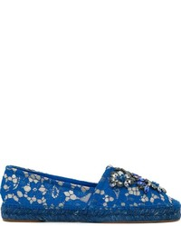Alpargatas de cuero azules de Dolce & Gabbana