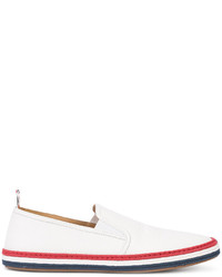 Alpargatas de cuero blancas de Thom Browne
