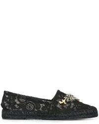 Alpargatas de Cuero Negras de Dolce & Gabbana