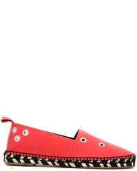 Alpargatas de cuero rojas de Proenza Schouler