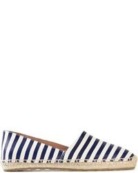 Alpargatas de rayas horizontales en azul marino y blanco de RED Valentino