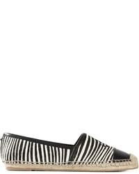 Alpargatas de rayas horizontales en blanco y negro de Sam Edelman