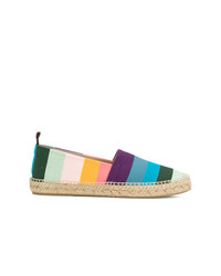 Alpargatas de rayas horizontales en multicolor de Paul Smith