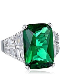 Anillo verde de CZ by Kenneth Jay Lane
