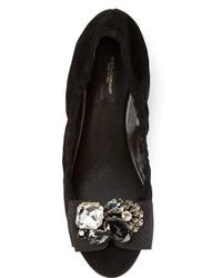 Bailarinas de ante con adornos negras de Dolce & Gabbana