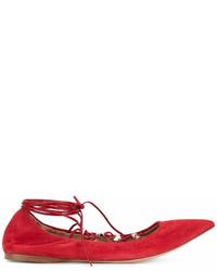 Bailarinas de ante rojas de Valentino