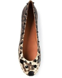 Bailarinas de cuero de leopardo marrónes de Marc by Marc Jacobs