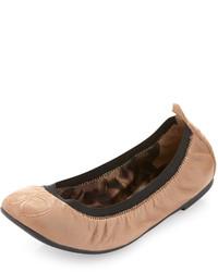 Bailarinas de cuero marrón claro