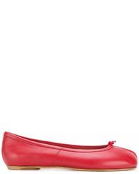 Bailarinas de cuero rojas de Maison Margiela