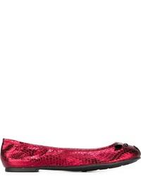 Bailarinas de cuero rojas de Marc by Marc Jacobs