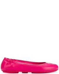 Bailarinas de cuero rosa de Salvatore Ferragamo