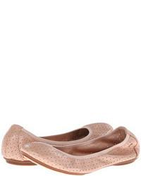 Bailarinas de cuero rosadas