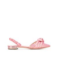 Bailarinas de cuero rosadas de Casadei