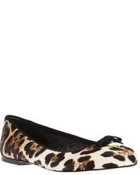 Bailarinas de leopardo marrón claro de Dolce & Gabbana