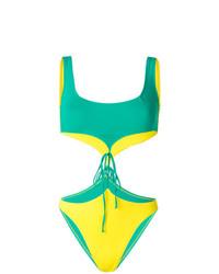 Bañador con recorte verde de Sian Swimwear