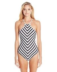 Bañador de rayas horizontales en blanco y negro de Seafolly