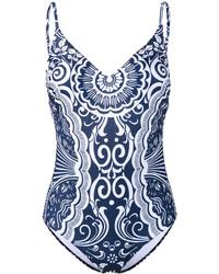 Bañador Estampado Azul Marino de Mary Katrantzou