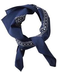 Bandana con print de flores azul marino