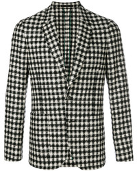 Blazer a cuadros en negro y blanco de Paul Smith