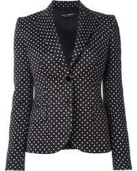 Blazer a lunares en negro y blanco de Dolce & Gabbana