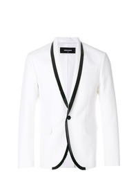Blazer blanco de DSQUARED2