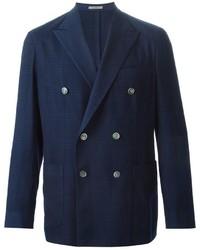 Blazer cruzado de lana azul marino de Boglioli