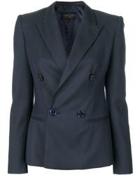 Blazer cruzado de lana azul marino de Giambattista Valli