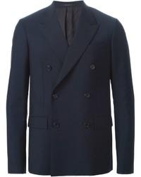 Blazer cruzado de lana azul marino de Jil Sander