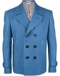 Blazer cruzado de lana azul de Thom Browne