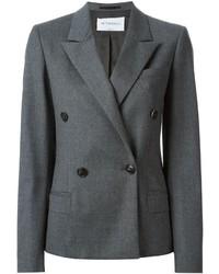 Blazer cruzado de lana en gris oscuro de Viktor & Rolf