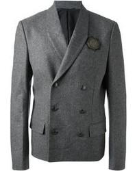 Blazer cruzado de lana gris
