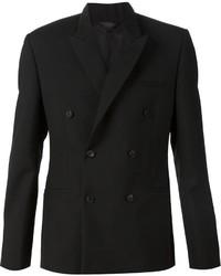Blazer cruzado de lana negro de Calvin Klein