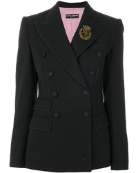 Blazer cruzado de lana negro de Dolce & Gabbana