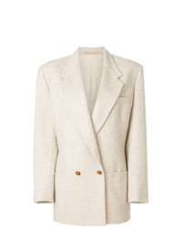 Blazer cruzado en beige de Versace Vintage