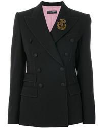 Blazer cruzado negro de Dolce & Gabbana