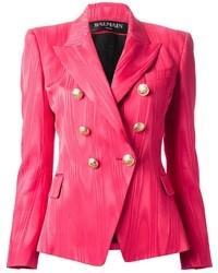Blazer cruzado rosa de Balmain