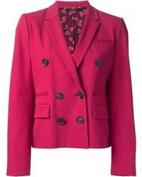 Blazer cruzado rosa de Gucci