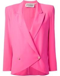 Blazer cruzado rosado de Gianfranco Ferre